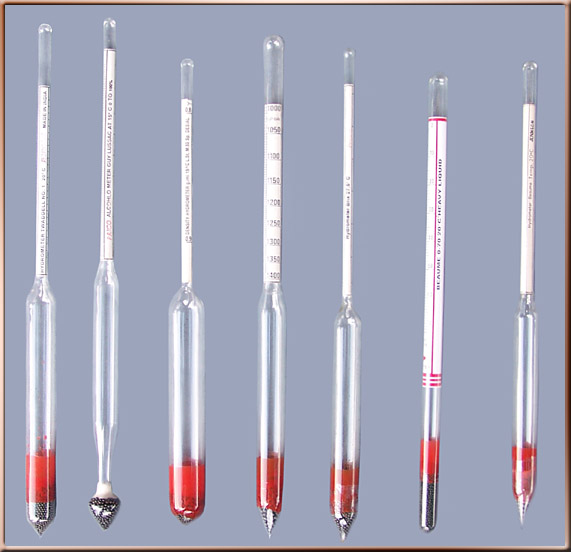 Alcohol hydrometers