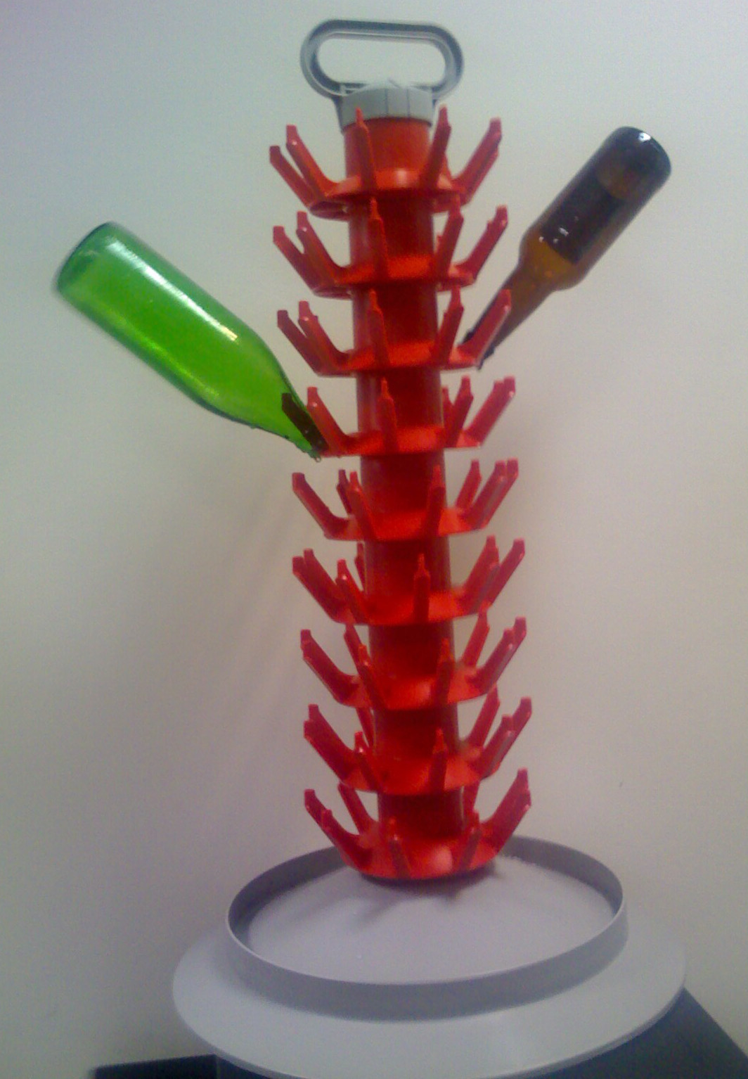 Bottle drainer for 81 bottles