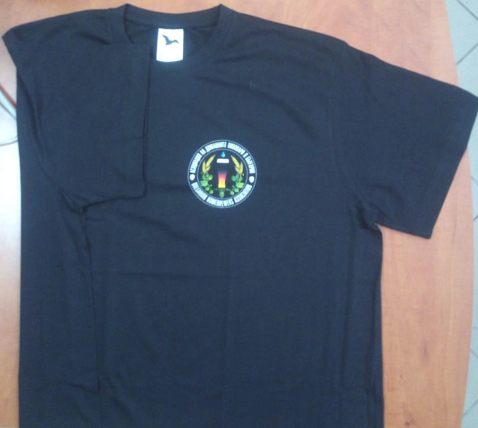 T-shirt with logo of Bulgarian Homebrewers association - black